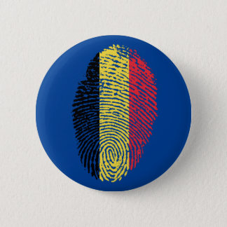 Belgian touch fingerprint flag 2 inch round button