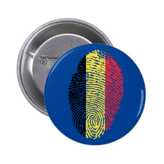 Belgian touch fingerprint flag 2 inch round button