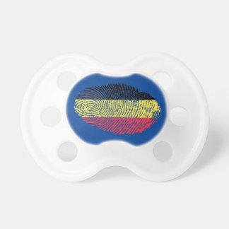 Belgian touch fingerprint flag baby pacifier