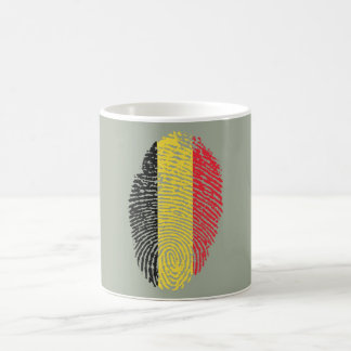 Belgian touch fingerprint flag coffee mug