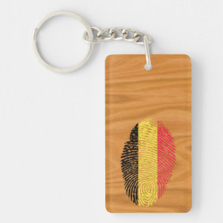 Belgian touch fingerprint flag Double-Sided rectangular acrylic keychain