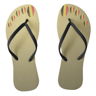 Belgian touch fingerprint flag flip flops