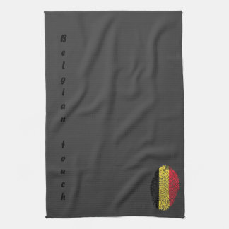 Belgian touch fingerprint flag kitchen towel