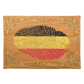Belgian touch fingerprint flag place mat