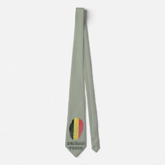 Belgian touch fingerprint flag tie