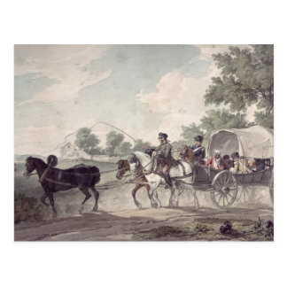 Belgian Wagon conveying Wounded from the Field Postcard