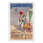Belgian Watering Places Vintage Travel Poster