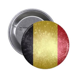 België; Belgium Flag 2 Inch Round Button