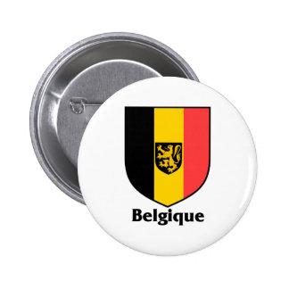 Belgique Crest / Belgium Flag 2 Inch Round Button