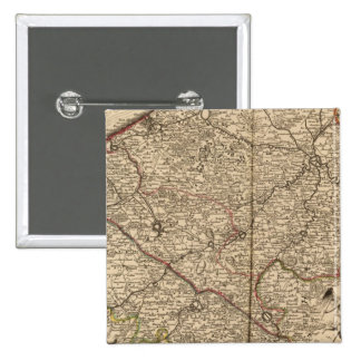 Belgium and France 2 Inch Square Button