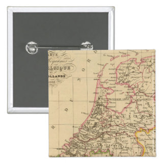 Belgium and Holland, 1812 2 Inch Square Button