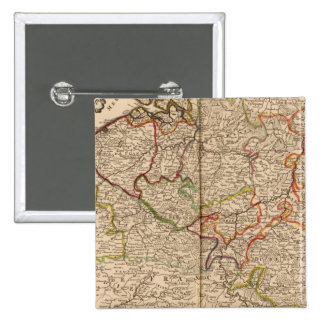 Belgium and Luxembourg 2 Inch Square Button