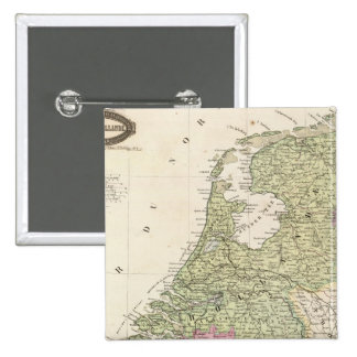 Belgium and Netherlands 2 2 Inch Square Button