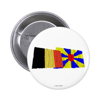 Belgium and West Flanders Waving Flags Pins