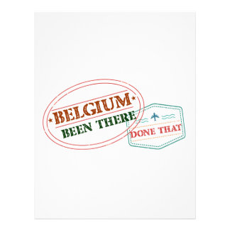 Belgium Been There Done That Letterhead