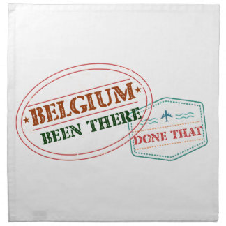Belgium Been There Done That Printed Napkins