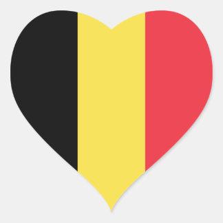 Belgium/Belgian Heart Flag Heart Sticker
