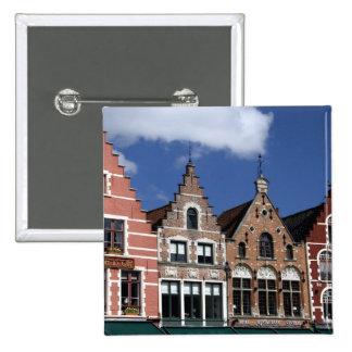 Belgium, Brugge (aka Brug or Bruge). UNESCO 2 2 Inch Square Button