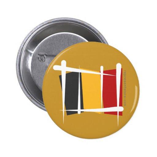 Belgium Brush Flag Button