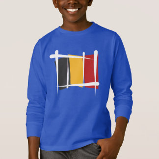 Belgium Brush Flag T-Shirt