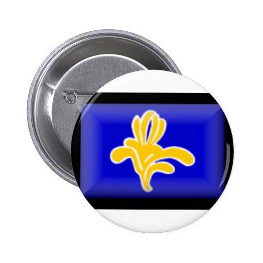 Belgium-Brussels Flag Pinback Buttons