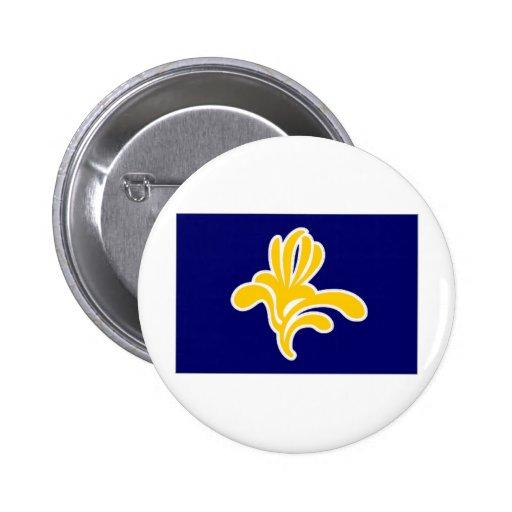 Belgium Brussels Region Flag Button