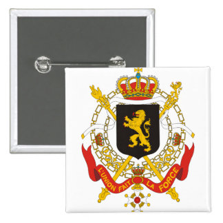 Belgium Coat of Arms detail 2 Inch Square Button