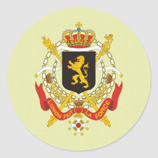 Belgium Coat of Arms detail Classic Round Sticker