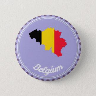 Belgium country 2 inch round button