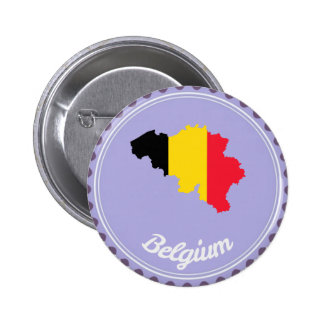 Belgium country 2 inch round button