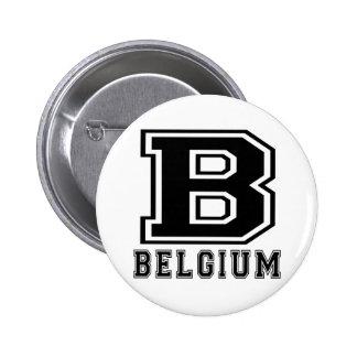 Belgium Designs 2 Inch Round Button