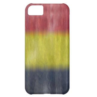 Belgium distressed flag cover for iPhone 5C