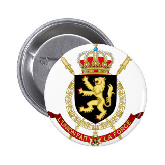 belgium emblem 2 inch round button