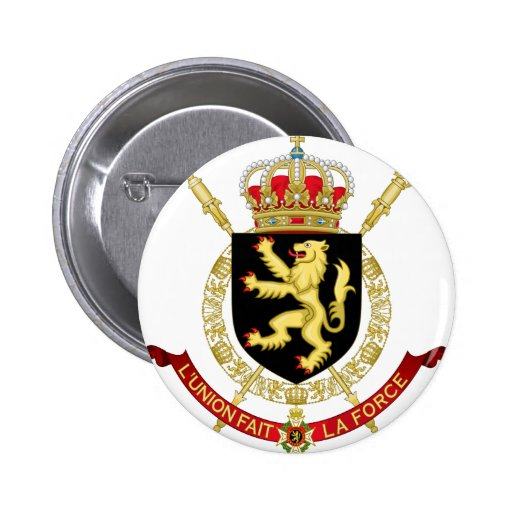 belgium emblem button