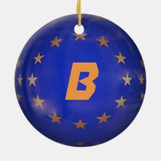 Belgium EU Christmas Ornament