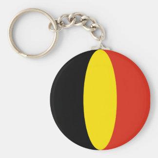 Belgium Fisheye Flag Keychain