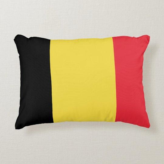 Belgium Flag Accent Pillow