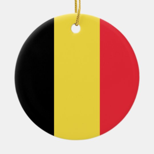 Belgium Flag Ceramic Ornament