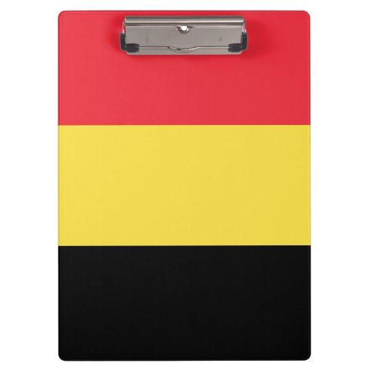 Belgium Flag Clipboard