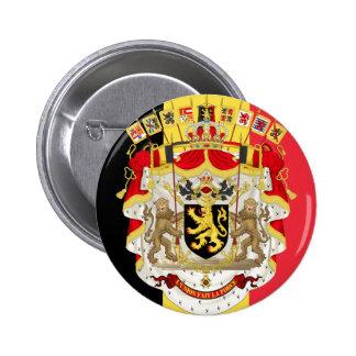 Belgium Flag & COA 2 Inch Round Button