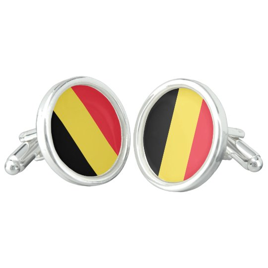 Belgium Flag Cuff Links