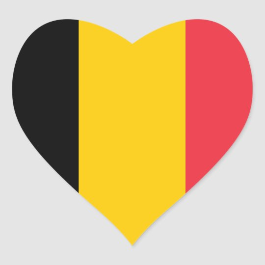 Belgium Flag Heart Sticker