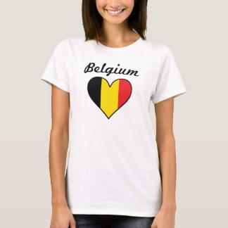 Belgium Flag Heart T-Shirt