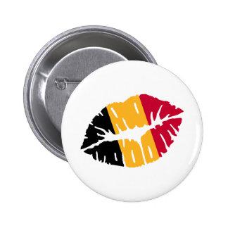 Belgium flag kiss 2 inch round button