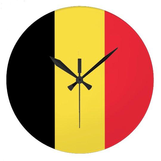 Belgium Flag Large Clock