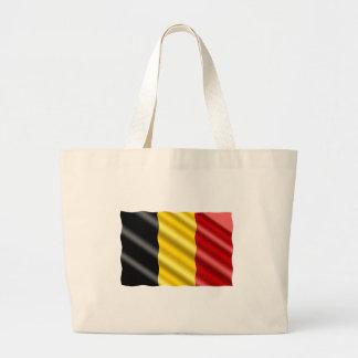 Belgium Flag Large Tote Bag