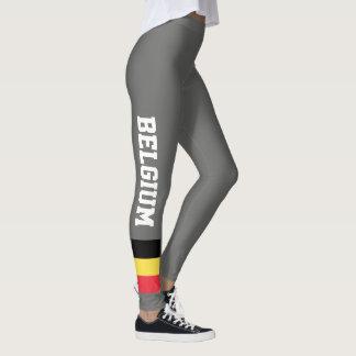 Belgium flag leggings for sport fitness yoga