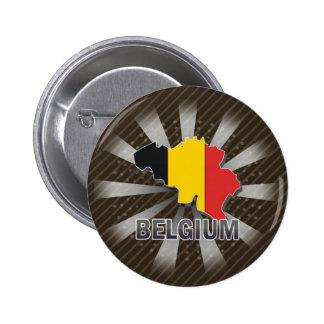 Belgium Flag Map 2.0 2 Inch Round Button