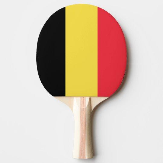 Belgium Flag Ping Pong Paddle