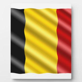 Belgium Flag Plaque